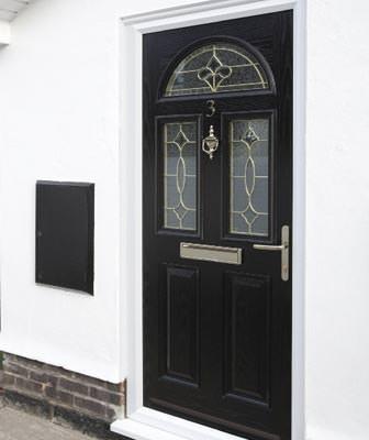 Composite door black select products for Composite double glazed doors