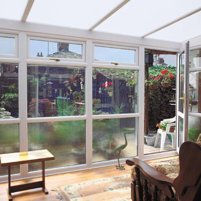 Lean-To Conservatory small inside
