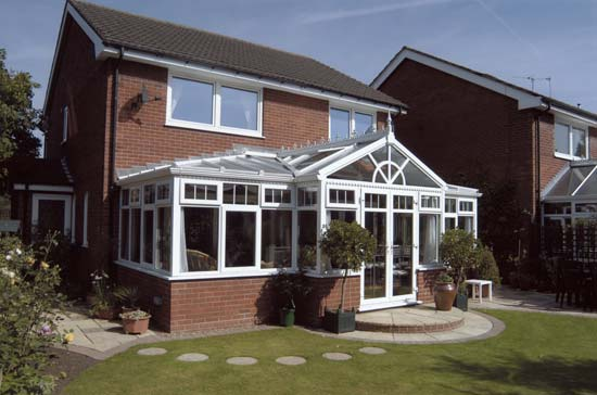 Shaped Conservatory gable front