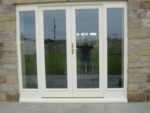 Upvc french doors cream select products for Double glazed upvc patio doors