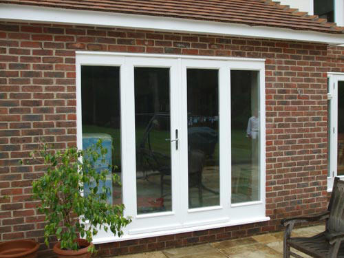 UPVC French Doors white