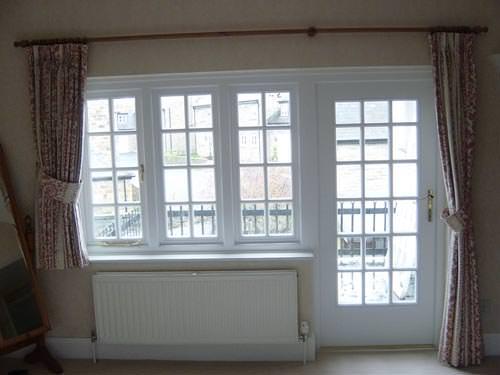 Wooden back Door and window