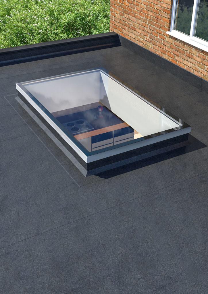 ultraframe ultrasky flat skylight exterior